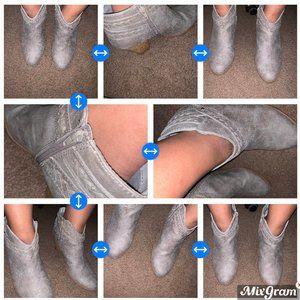 Charlotte Russe Grey Heel Booties